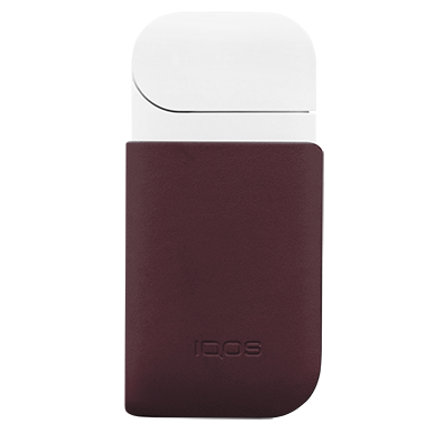 IQOS Leather Clip, Burgundy, large