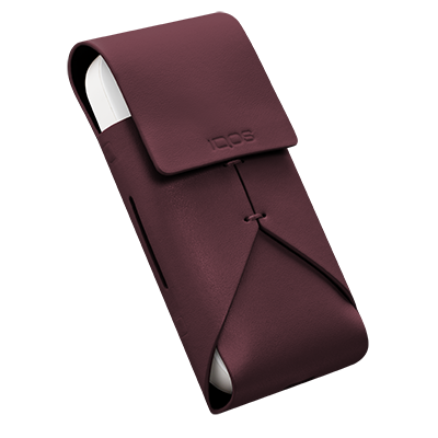 IQOS Leather Pouch, Burgundy, large